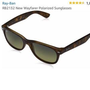 EUC Ray-Ban New Wayfarer 2132 Polarized Sunglasses